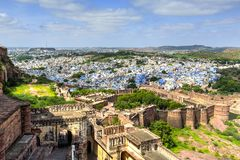 Cidade de Jodhpur, Índia foto de stock royalty free
