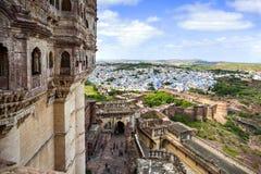 Cidade de Jodhpur, Índia fotografia de stock royalty free
