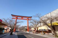 CIDADE DE KASHIMA, SAGA, JAPÃO - 11 DE MARÇO DE 2017: Porta de Torii de Yutok Imagens de Stock