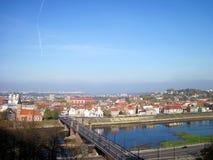 Cidade de Kaunas, Lithuania foto de stock