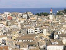 Cidade de Kerkyra Corfu Fotos de Stock