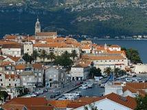 Cidade de Korcula em Croatia. fotografia de stock royalty free