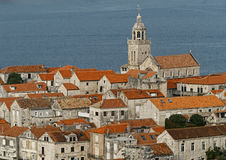 Cidade de Korcula em Croatia. imagens de stock royalty free