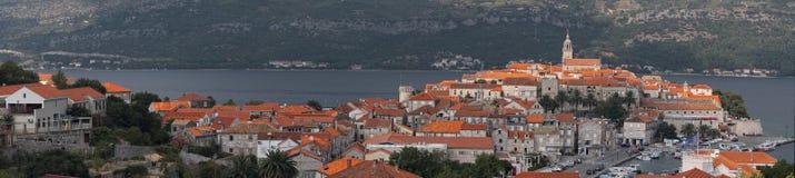 Cidade de Korcula em Croatia. imagens de stock