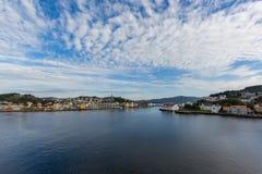 Cidade de Kristiansund em Noruega Foto de Stock Royalty Free