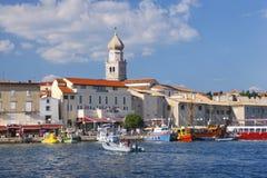 Cidade de Krk Foto de Stock Royalty Free