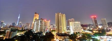 Cidade de Kuala Lumpur na noite Fotos de Stock Royalty Free
