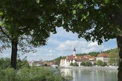 A cidade de Landsberg am Lech Fotos de Stock