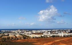 Cidade de Lanzarote fotografia de stock royalty free