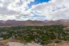 Cidade de Leh Ladakh Fotos de Stock Royalty Free