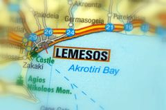 Cidade de Lemesos, Chipre foto de stock