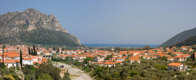 Cidade de Leonidio, Greece Foto de Stock Royalty Free