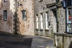 Cidade de Lerwick, opinião da rua, Escócia Imagem de Stock