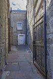 Cidade de Lerwick, passagem velha, Escócia Fotografia de Stock Royalty Free
