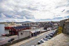 Cidade de Lerwick, Shetland, Escócia Fotos de Stock