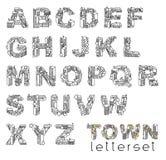 CIDADE de Letterset Imagem de Stock