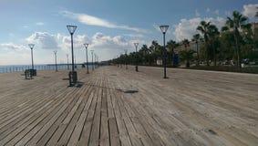 Cidade de Limassol em Chipre ao lado do mar Mediterrâneo Fotos de Stock