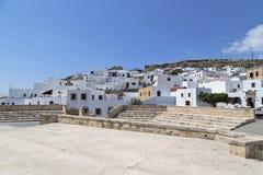 A cidade de Lindos no grego Imagem de Stock Royalty Free