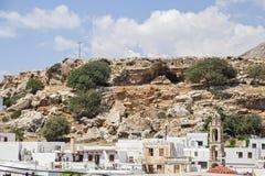 A cidade de Lindos no grego Foto de Stock Royalty Free