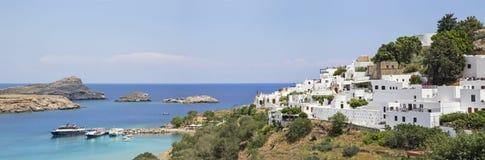 A cidade de Lindos no grego Fotos de Stock