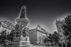 Cidade de Lisboa em preto e branco Fotografia de Stock Royalty Free