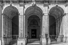 Cidade de Lisboa em preto e branco Fotos de Stock