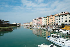 Cidade de Livorno, Itália Foto de Stock
