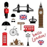 Cidade de Londres Coleção do clipart temático do vetor ilustração royalty free