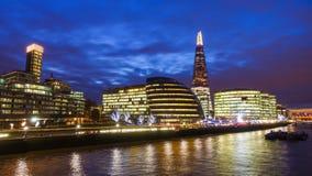 Cidade de Londres na noite Imagens de Stock