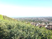 Cidade de Long Beach disparada do monte do sinal, CA Imagens de Stock