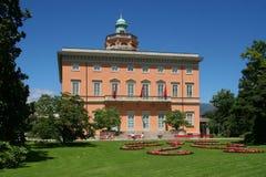 Cidade de Lugano, Switzerland Foto de Stock