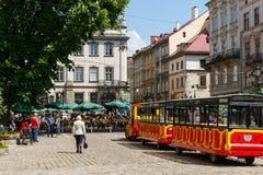A cidade de Lviv Fotos de Stock Royalty Free