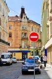 Cidade de Lviv em Ucrânia Fotografia de Stock Royalty Free