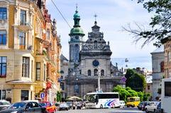 Cidade de Lviv em Ucrânia imagens de stock royalty free