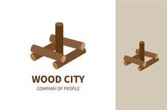 Cidade de madeira Fotos de Stock