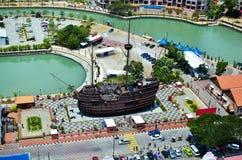 Cidade de Malacca no estado de Malacca, Malásia Imagens de Stock