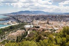 Cidade de Malaga A Andaluzia, Espanha Foto de Stock