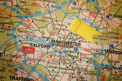 Cidade de Manchester fotografia de stock