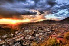 Cidade de Massa Fotografia de Stock Royalty Free