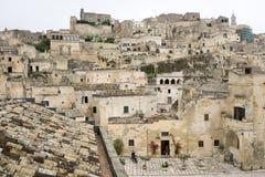 A cidade de Matera em Itália do sul Fotos de Stock
