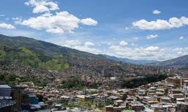 Cidade de Medellin em Colômbia fotos de stock royalty free