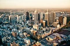 Cidade de Melbourne Foto de Stock Royalty Free