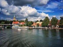 Cidade de Mikolajki Fotos de Stock Royalty Free