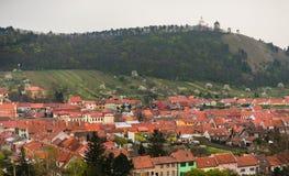 Cidade de Mikulov e de Holly Hill fotos de stock royalty free