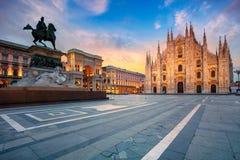 Cidade de Milão, Itália Foto de Stock Royalty Free