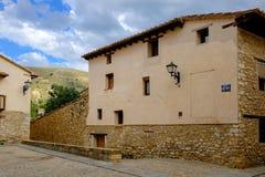 Cidade de Mirambel, Espanha Fotografia de Stock Royalty Free