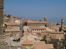Cidade de Montalcino Imagens de Stock Royalty Free