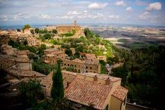 Cidade de Montalcino. Italy fotos de stock