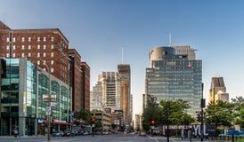Cidade de Montreal no por do sol Imagem de Stock Royalty Free