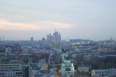 Cidade de Moscou da paisagem, Moscou, Rússia Foto de Stock Royalty Free